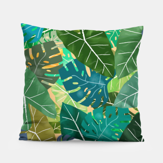 Thumbnail image of Elephant Ears and Monstera  Pillow, Live Heroes