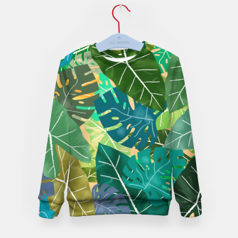 Thumbnail image of Elephant Ears and Monstera  Kid's sweater, Live Heroes
