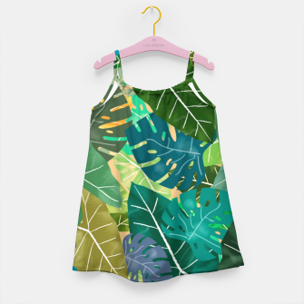 Thumbnail image of Elephant Ears and Monstera  Girl's dress, Live Heroes