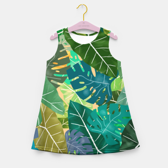 Thumbnail image of Elephant Ears and Monstera  Girl's summer dress, Live Heroes