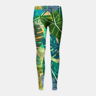 Thumbnail image of Elephant Ears and Monstera  Girl's leggings, Live Heroes