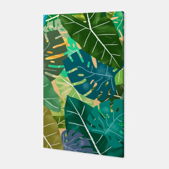 Thumbnail image of Elephant Ears and Monstera  Canvas, Live Heroes