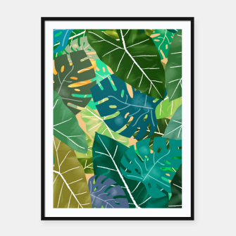 Thumbnail image of Elephant Ears and Monstera  Framed poster, Live Heroes