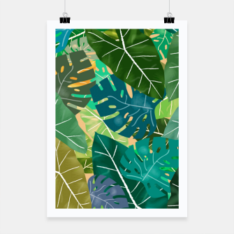 Thumbnail image of Elephant Ears and Monstera  Poster, Live Heroes