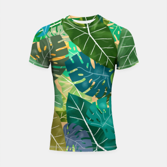 Thumbnail image of Elephant Ears and Monstera  Shortsleeve rashguard, Live Heroes