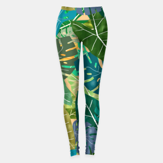 Thumbnail image of Elephant Ears and Monstera  Leggings, Live Heroes