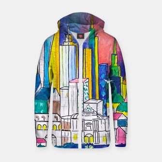 Miniatur Color Urbanization Zip up hoodie, Live Heroes