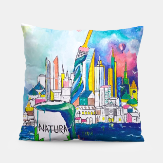 Miniatur Color Urbanization Pillow, Live Heroes