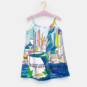 Miniatur Color Urbanization Girl's dress, Live Heroes
