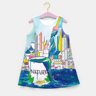 Miniatur Color Urbanization Girl's summer dress, Live Heroes