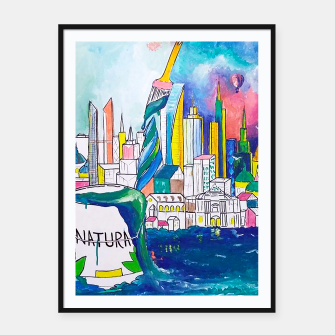 Miniatur Color Urbanization Framed poster, Live Heroes
