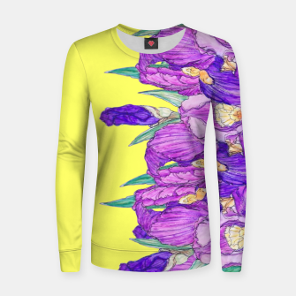 Thumbnail image of Flower-de-luce in yellow Women sweater, Live Heroes