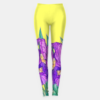 Thumbnail image of Flower-de-luce in yellow Leggings, Live Heroes