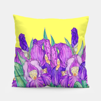 Thumbnail image of Flower-de-luce in yellow Pillow, Live Heroes