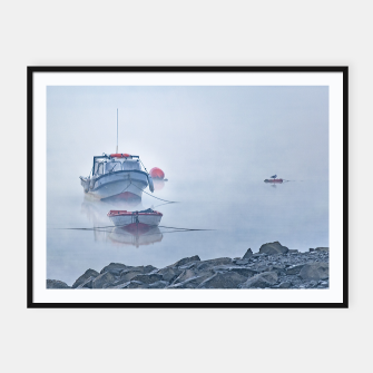 Miniatur Foggy Scene Puyuhuapi Lake, Patagonia, Chile Framed poster, Live Heroes