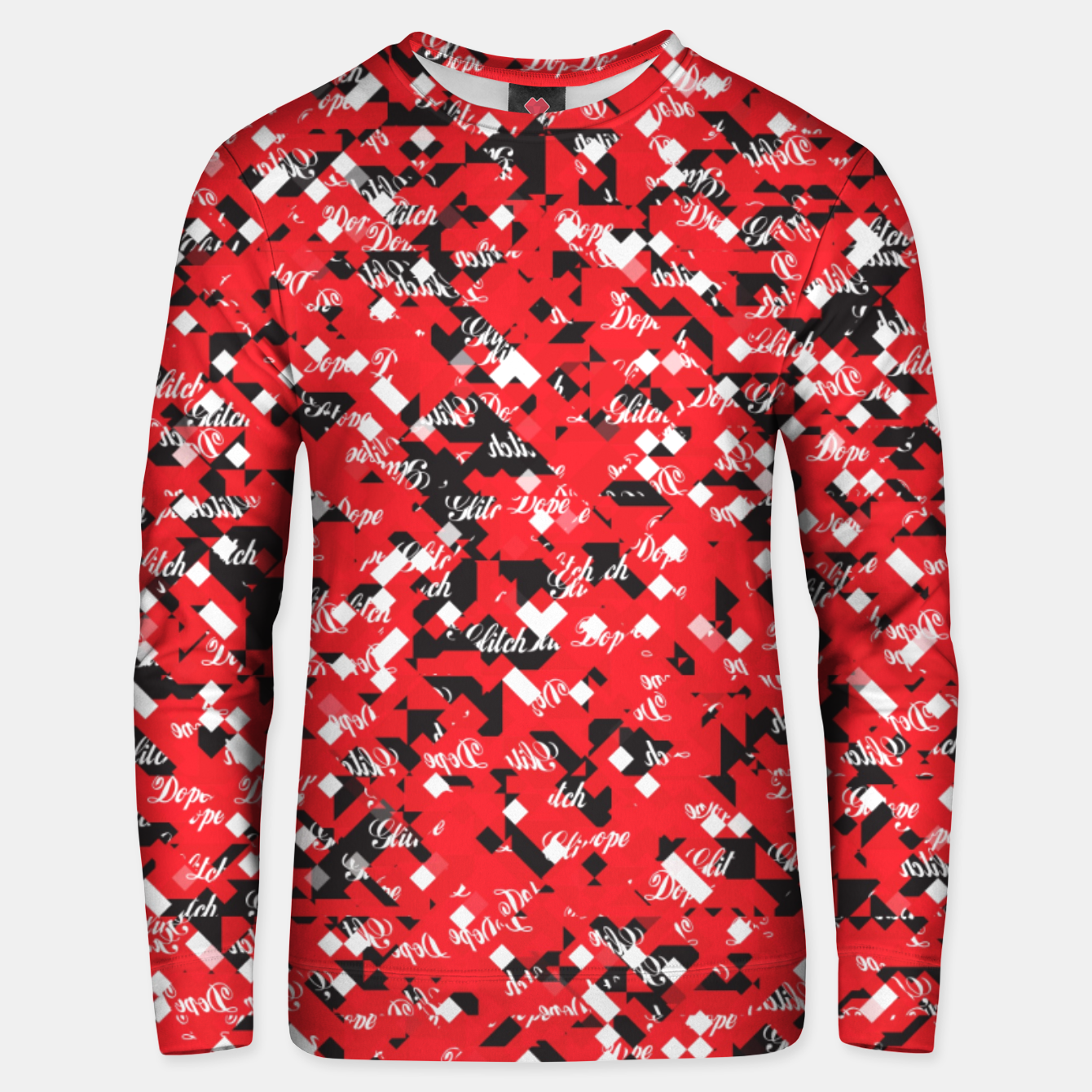 Image of Dope Glitch Unisex sweater - Live Heroes