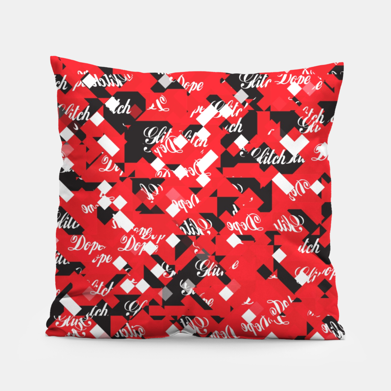 Image of Dope Glitch Pillow - Live Heroes