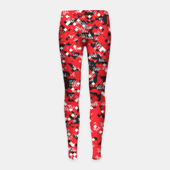 Dope Glitch Girl's leggings obraz miniatury