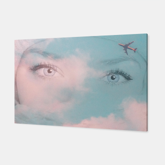 Miniatur L Adieu Girl pink sky and plane  Toile, Live Heroes