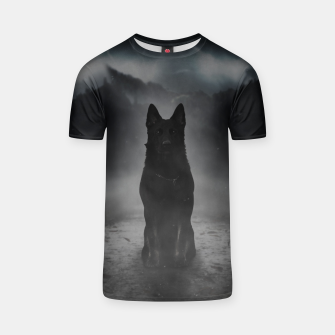 Thumbnail image of Black Dog in the Fog T-Shirt, Live Heroes