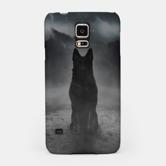 Thumbnail image of Black Dog in the Fog Handyhülle für Samsung, Live Heroes