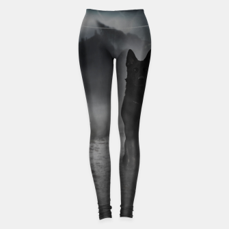 Miniatur Black Dog in the Fog Leggings, Live Heroes