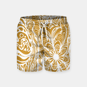 Miniatur Not a circus golden elephant by #Bizzartino Swim Shorts, Live Heroes