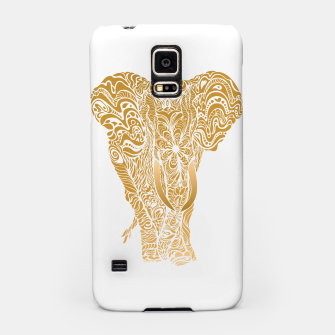 Miniatur Not a circus golden elephant by #Bizzartino Samsung Case, Live Heroes