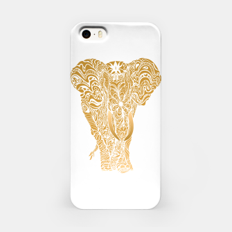 Miniatur Not a circus golden elephant by #Bizzartino iPhone Case, Live Heroes
