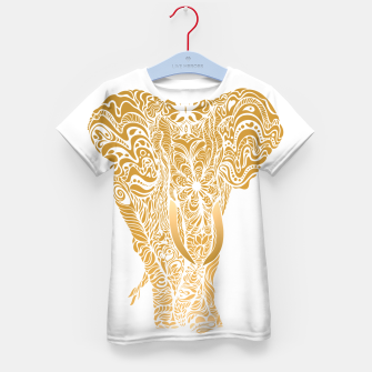 Miniatur Not a circus golden elephant by #Bizzartino Kid's t-shirt, Live Heroes