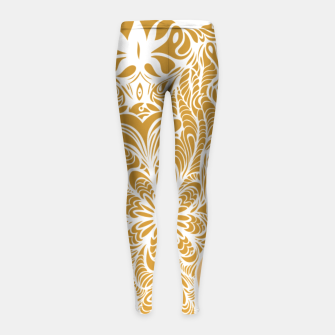 Miniatur Not a circus golden elephant by #Bizzartino Girl's leggings, Live Heroes