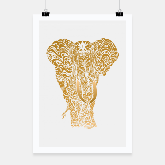 Miniatur Not a circus golden elephant by #Bizzartino Poster, Live Heroes
