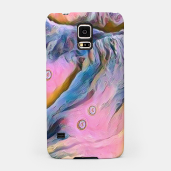 Thumbnail image of mountains abstract pastel pink blue yellow digital art Samsung Case, Live Heroes
