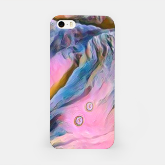 Thumbnail image of mountains abstract pastel pink blue yellow digital art iPhone Case, Live Heroes