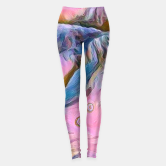 Thumbnail image of mountains abstract pastel pink blue yellow digital art Leggings, Live Heroes