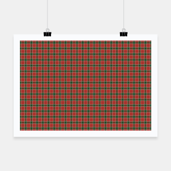 Miniatur Christmas Red and Dark Green Tartan with Double White Lines Poster, Live Heroes