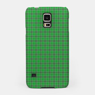 Miniatur Christmas Holly Green and Evergreen Tartan with White Lines Samsung Case, Live Heroes