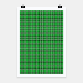 Miniatur Christmas Holly Green and Evergreen Tartan with White Lines Poster, Live Heroes