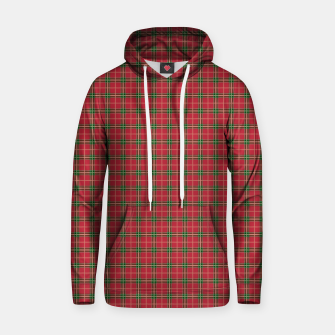 Miniatur Christmas Berry Red and Green Tartan with Beige and White Lines Hoodie, Live Heroes