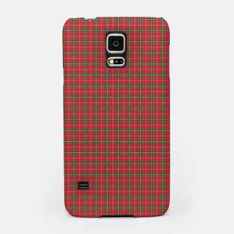 Miniatur Christmas Berry Red and Green Tartan with Beige and White Lines Samsung Case, Live Heroes