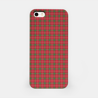 Miniatur Christmas Berry Red and Green Tartan with Beige and White Lines iPhone Case, Live Heroes