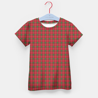 Miniatur Christmas Berry Red and Green Tartan with Beige and White Lines Kid's t-shirt, Live Heroes
