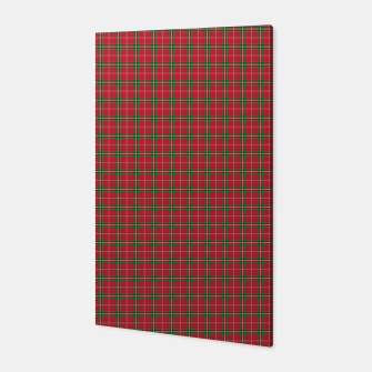 Miniatur Christmas Berry Red and Green Tartan with Beige and White Lines Canvas, Live Heroes