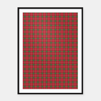 Imagen en miniatura de Christmas Berry Red and Green Tartan with Beige and White Lines Framed poster, Live Heroes