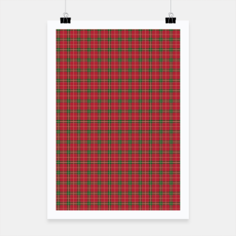 Miniatur Christmas Berry Red and Green Tartan with Beige and White Lines Poster, Live Heroes