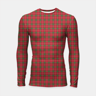 Miniatur Christmas Berry Red and Green Tartan with Beige and White Lines Longsleeve rashguard , Live Heroes
