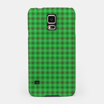 Miniatur Christmas Holly Green and Evergreen Tartan with Red and White Lines Samsung Case, Live Heroes