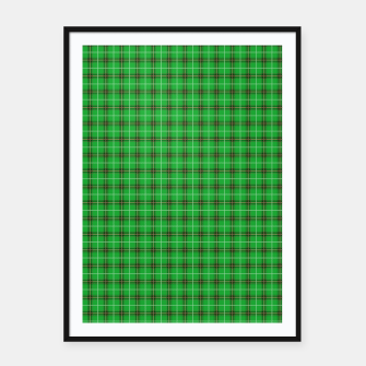 Imagen en miniatura de Christmas Holly Green and Evergreen Tartan with Red and White Lines Framed poster, Live Heroes