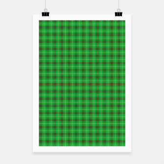Miniatur Christmas Holly Green and Evergreen Tartan with Red and White Lines Poster, Live Heroes
