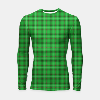 Miniatur Christmas Holly Green and Evergreen Tartan with Red and White Lines Longsleeve rashguard , Live Heroes